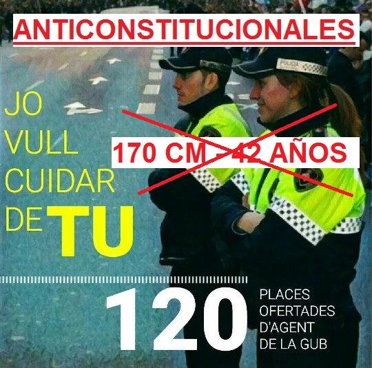EL ACCESO A LA GUARDIA URBANA  DE BARCELONA VULNERA LA CONSTITUCION